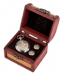 Two Tone Masonic Watch and Cufflinks in Trunk